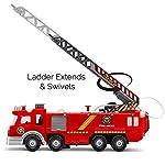 ToyZe-Camion-dei-Pompieri-con-Pompa-dellAcqua-e-Scala-con-Luci-Lampeggianti-Sirene-Giocattolo-Bump-Go-a-Batterie
