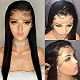 Maxine Brazilian straight cheap lace front wigs human hair with Baby Hair for Black Women 150% Density Remy Human Hair 22 inch Natural Color