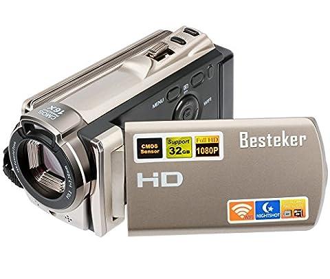 Kamera Camcorder, Besteker Digitale Videokamera FHD 1080P Max 20,0 Megapixeln