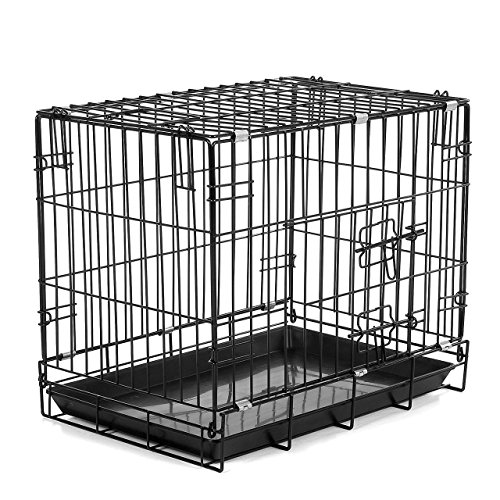 Happypet Transportbox Hundekäfig Reisebox (B x L x H) 48 x 63 x 53,5 cm Faltbar in Schwarz