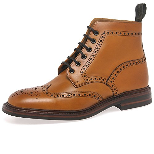 loake-burford-dainite-mens-formal-lace-up-boots-8-tan-burnished
