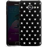 Samsung Galaxy A3 (2016) Housse Étui Protection Coque Petite étoile Noir et blanc Motif