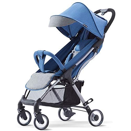 QZX Leichter Kinderwagen, Kinderwagen-Reisesystem mit abschließbaren Rädern und Peek-a-Boo-Fenster