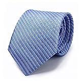Corbata de rayas Azul 100% seda - Oxford Collection -