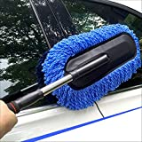 #4: Kurtzy Car Wash Brush Micro Fibre Duster Vehicle Washing Cloth Smooth Bristles Long Handle Interior & Exterior Cleaning Purposes (Assorted Colors)