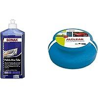 SONAX Polish & Wax Color NanoPro blau (500 ml) Politur mit Farbpigmenten und Wachsanteilen auf Nanotechnologie-Basis…