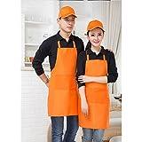 honeysuck colgado al cuello de trabajo delantales de cocina Chef restaurante Cafe Bar de alimentos bebidas–naranja