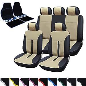 Woltu aS7288 aM7158 voiture ensemble de tapis de sol pour voiture housse en cuir pU résistant et respirant complet • produit neuf vendu dans son emballage original