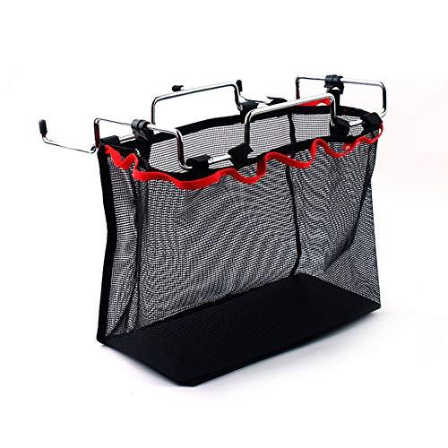 Picknick-tisch-kit (Feketeuki Outdoor Camping Wire Rack tragbare Aufbewahrungstasche Net Pocket Picknick Tisch Barbecue Kit Küche Sonstiges Net Set - schwarz)