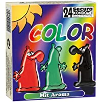 Orion 415448 Secura Color, farbige Kondome mit Aroma: Grün (Pfefferminz), Rot (Erdbeere), Schwarz (Schoko), gesamt... preisvergleich bei billige-tabletten.eu