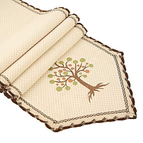 Chemin de table Triangle Nappe, chemin de table pour Family Party Mat Coffee Mat Hôtel Literie Anniversaire Fournitures De Mariage (Couleur : Blanc, taille : 35×220cm)
