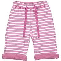 PICCALILLY in cotone organico rosa Breton Stripe reversibile Pantaloni