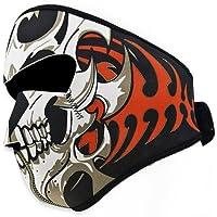 Máscara de Motociclismo Antiviento, Suave a Cara, Premium 2 En 1 Reversible Diseño Tribal Máscara in Neopreno, Ajuste con Velcro