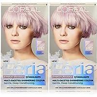 L'Oreal Paris Hair Color Feria Pastels Dye, Smokey Lavender P12 (Pack of 2) by L'Oreal Paris