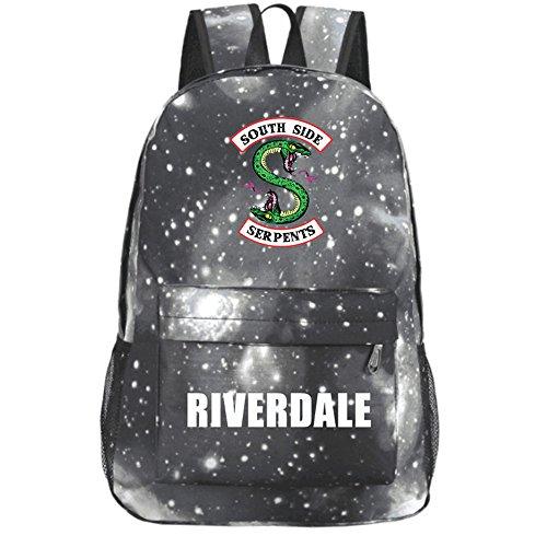 LIOMENLA Unisex Rucksäcke Riverdale Druck Backpacks Schultasche Reiserucksack Multifunktionsrucksack Laptop Daypack Beliebte Rucksack Sport und Outdoor Beiläufige