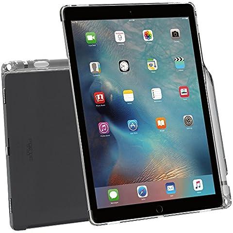 Funda iPad Pro 12,9, Poetic [Cristal translúcido][Compatible con teclado][Sujeción del lápiz] Estilizado con Funda de TPU para Apple iPad Pro de 12,9 (2015) con sujeción del lápiz y compatible con el teclado Smart de Apple Transparente Gris (3 Años Garantía del Fabricante