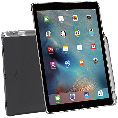 Custodia iPad Pro 12,9, Poetic [Serie Clarity]-[Trasparente][Compatibile con tastiera][Reggipenna] Custodia alla moda sottile in TPU per iPad Pro 12,9 (2015) con reggi penna, compatibile con tastiera Apple Smart Keyboard Trasparente Grigio (3 Anni di Garanzia del Produttore Poetic)