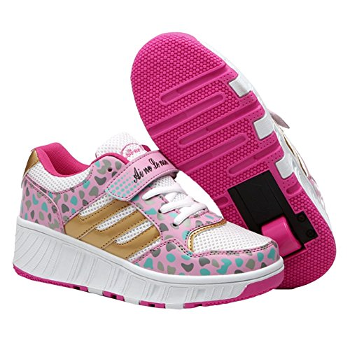 iiSport-Nouvelle collections 2016 Heelys Speed led Sneakers lumieux basses mixte pour enfant Rose