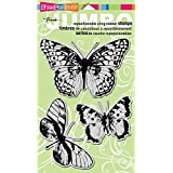 Stampendous Jumbo Cling Rubber Stamp 7-inch x 5-inch Sheet-Butterfly Trio