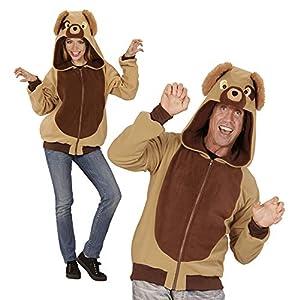 WIDMANN 07005?Adultos Disfraz Perro, Sudadera con Capucha, Color marrón, tamaño L/XL