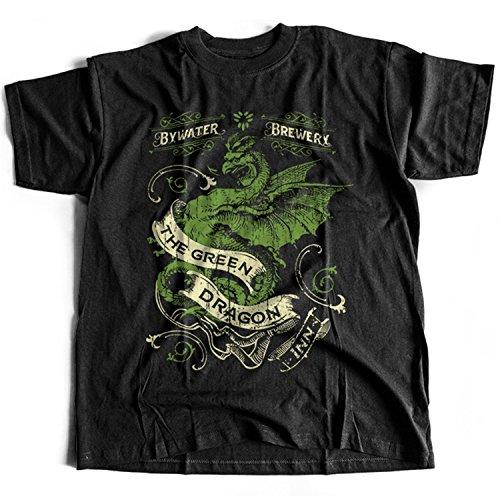Flamentina 5025 Green Dragon Inn Mens T-Shirt J R R Tolkien Lord of The Rings Prancing Pony Fellowship Frodo Baggins