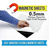 MFM TOYS 0.5mm Thick Self Adhesive Flexible Magnetic Sheet, 30x30cm (Black) -Pack of 2