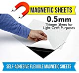 #6: Mfm Toys Self Adhesive Flexible Magnetic Sheet 30X30Cm 0.5Mm Thick (2 Sheets) Art And Craft Rubber Magnets, Div Fridge Magnets Classroom, Magnetic Photo Magnets Sheet