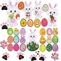 37 pezzi decorazioni per coniglietto pasquale decorazioni per ritagli di uova, accessori per feste pasquali, 7 misure assortite (max 11,4 pollici, minimo 3,7 pollici)