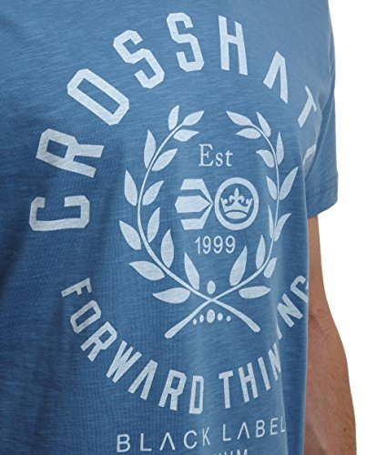 Crosshatch Bedgeburry Herren T-Shirt Blau