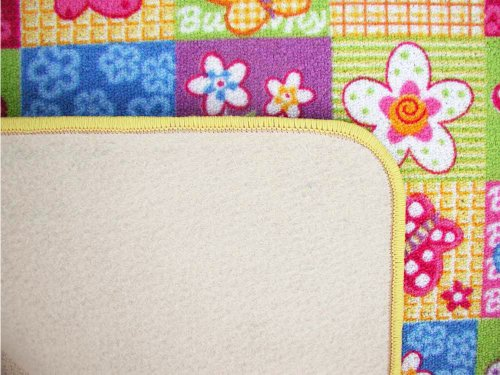 Kinderteppich Schmetterling Patchwork