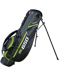 SL: 650–Ultra-légère GOLFBAG seulement 1,6kg–supalight Technologie de Masters–Noir/Blanc + 1Pack Quilla Tees de golf gratuites