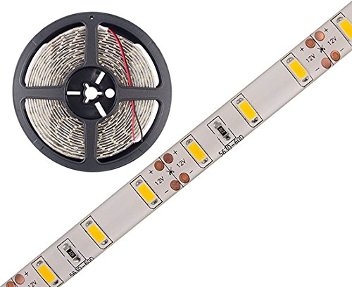 SET: LED Stripe, LED Streifen, LED Strip 12V Roll 2m 300/5m LED 5630 108W/5m 7425/5m Lumen IP65, DC Jack (2m Warmweiss IP65)