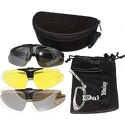 Nuevo Daisy C1 militar táctica deporte gafas gafas al aire libre 3 lentes gafas de sol Gafas de sol Pesca Escalada Tiro Caminar