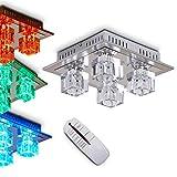 LED Deckenleuchte mit Farbwechsler und Fernbedienung in verschiedenen Ausführungen - VARIATION - (Luanda)