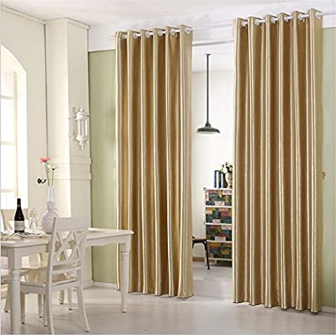 KKLL Curtains Polyester Embossing fabric Blackout Noise Reducting Warm Protecting Sun visor Panel Curtain Home Decor Room Insulated Window Drapes , 2 , B