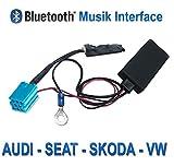 Watermark Vertriebs GmbH & Co. KG WM-BT08 Bluetooth Audio Musik Empfänger für VW, Audi, SEAT, Skoda OEM Radio mit Mini-ISO Anschluss