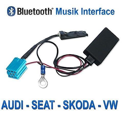 Bluetooth Audio Empfänger für VW, AUDI, SEAT, SKODA OEM Radio mit Mini-ISO Anschluss
