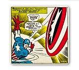 Untersetzer Captain America - Marvel Comics -Smash Modok!! - Bierdeckel - Lizenziertes Originaldesign - LOGOSHIRT