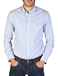 Ralph Lauren Striped Cotton Shirt Button Down, Hombre.