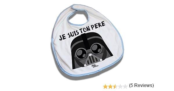 Bavoir Bleu Dark Vador Je Suis Ton Père Star Wars Kawaii Chibi By Fluffy Chamalow Fabriqué En France Chamalow Shop