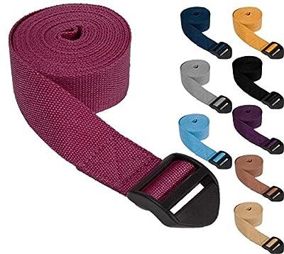 """Yogagurt »SadiraÂ« / Yoga Gurt 100% Baumwolle mit Verschluss / 280 cm (110"""") x 3,8 cm (1,5"""") erhätlich in verschiedenen Farben"""