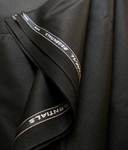 Vimal Men\'s Polyblend 1.2meter Black Trouser Fabric