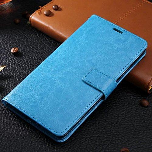 XIAOMI Case Cover Xiaomi Hongmi 4 Fall-Abdeckung, Normallack-erstklassiger Retro horizontaler Schlag-Standplatz-Fall-Mappe mit Karte Bargeldschlitze für Xiaomi Hongmi 4 ( Color : Rose , Size : Xiaomi  Blue