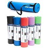 Sport-Thieme Gymnastik- u. Yogamatte | rutschfeste Fitnessmatte mit Trageband, Workoutposter, Workoutvideo | In 5 Farben | 180x60x1 cm | Dichter NBR-Komfortschaum | 1,3 kg | Markenqualität