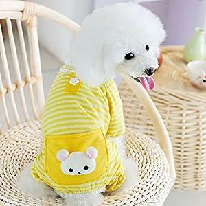 Zrong Vêtement de nuit / chemise de nuit/veste de pyjama/pyjama Barboteuse mignon en Coton 3 Couleurs pour Petit Chien