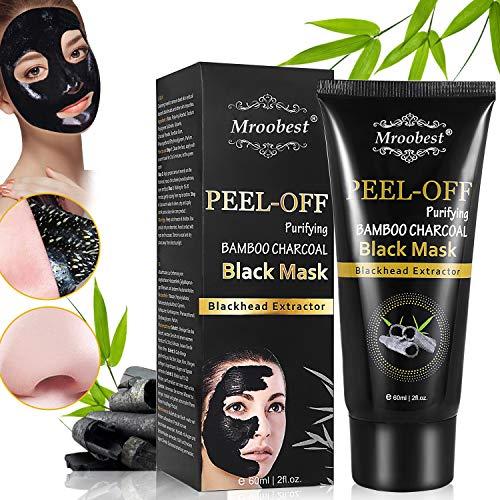 Black Mask, Peel off Maske, Mitesser Maske, Bambus Holzkohle Peel Off Maske, Poren reinigen Anti Öl Kontrolle Reinigung Blackhead Maske, Tiefenreinigung-120ML - Pore Peel