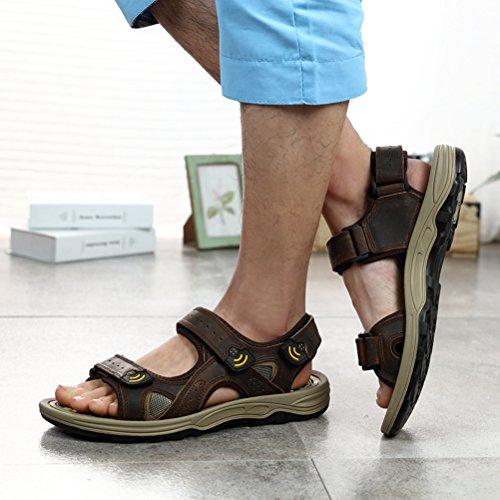 Sommer Herren Hübsche Tarnungspattern Schnellverschluss Luftige Outdoor Sportliche Sandalen Braun