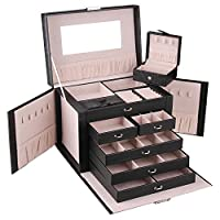 ROULING Leather Jewellery Box Travel Case and Lock ZG245C