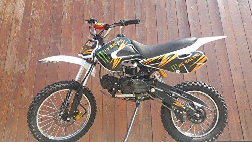 Preisvergleich Produktbild RV-RACING GT607S 125ccm Dirtbike Weiß Pitbike Enduro Cross 4 Takt 4 Gang TOP!!