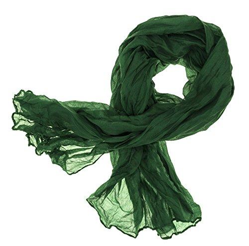 DOLCE ABBRACCIO CRAZY MAMA Damen Schal Halstuch Tuch Damenschal aus Baumwolle MASH Schals Ganzjährig Frühling Sommer (Waldgrün)